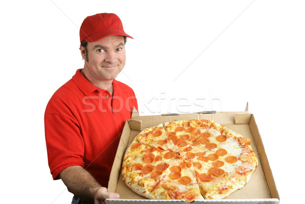 Pepperoni Pizza Delivered Stock photo © lisafx