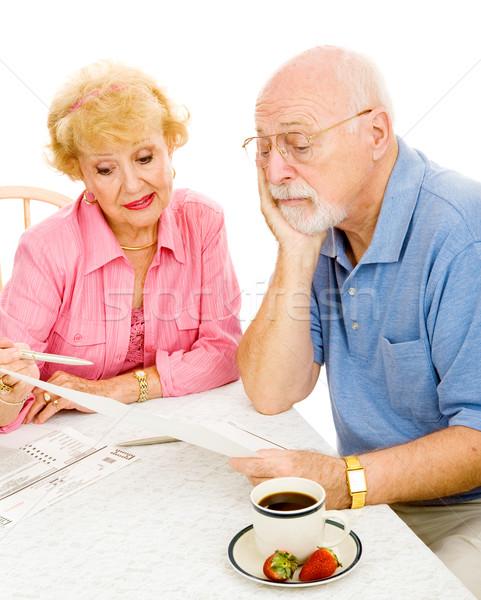 Vot greu alegere senior om uita Imagine de stoc © lisafx