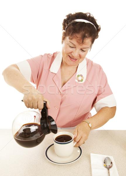 Waitress Pouring Coffee Stock photo © lisafx