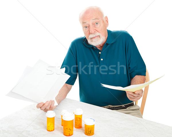 Wiele medycznych starszy człowiek Zdjęcia stock © lisafx