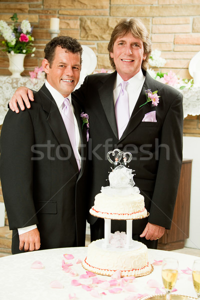 Matrimonio gay ricevimento di nozze bello gay Coppia pronto Foto d'archivio © lisafx
