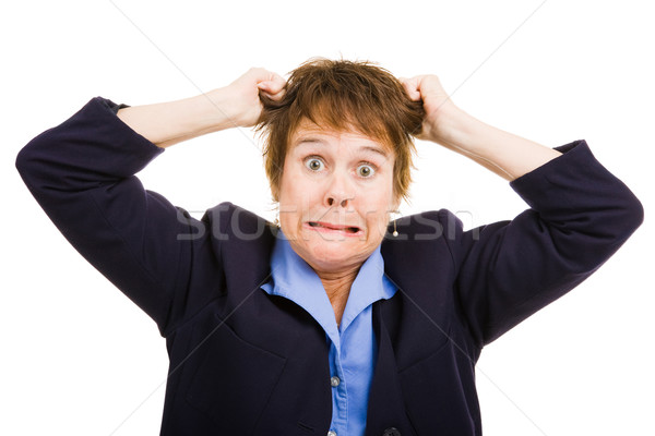 Business Woman - Frustration Stock photo © lisafx