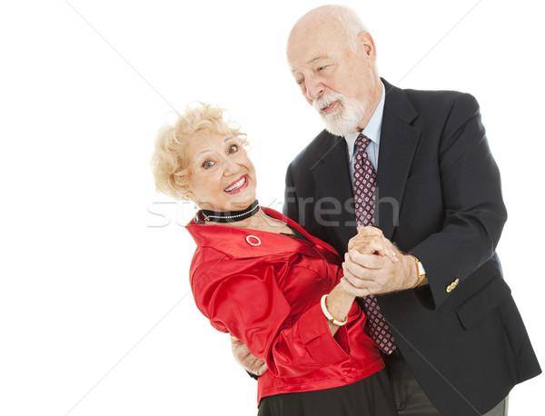Tánc idősek mártás idős férfi gyönyörű Stock fotó © lisafx