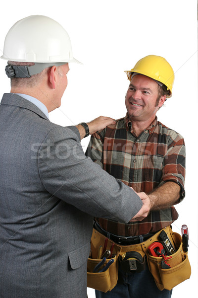 работу два разделение бизнеса улыбка здании Сток-фото © lisafx