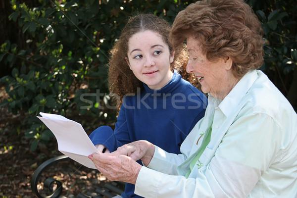 Grandma Sharing Wisdom Stock photo © lisafx