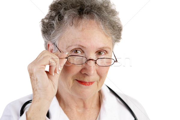 Mature Female Doctor Trustworthy Stock photo © lisafx