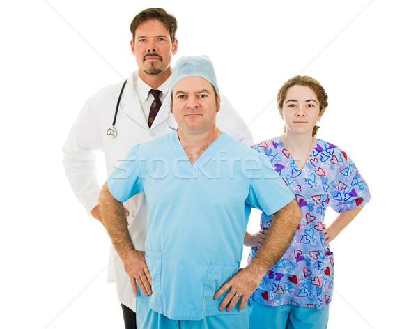 Wspaniały medycznych pracowników godny zaufania zespołu Zdjęcia stock © lisafx