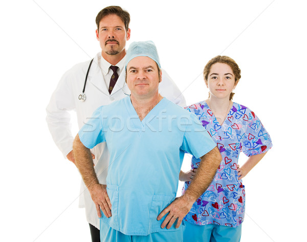 Súper médicos personal competente equipo Foto stock © lisafx