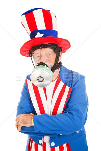 Tío máscara de gas americano icono metáfora Foto stock © lisafx