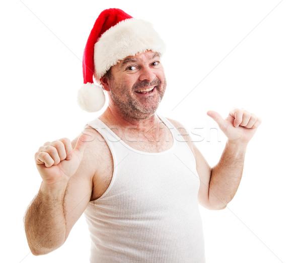 Grungy Santa Claus - This Guy Stock photo © lisafx