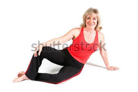 Mooie senior fitness instructeur vroeg sixties Stockfoto © lisafx