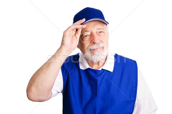 заработная плата старший человека рабочих розничной цепь Сток-фото © lisafx