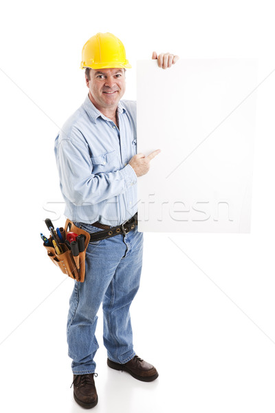 Construction Worker - Sign Stock photo © lisafx