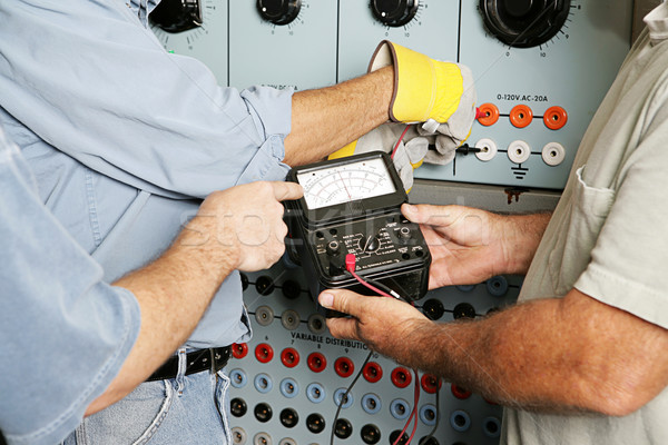 Electrical Team Testing Voltage Stock photo © lisafx