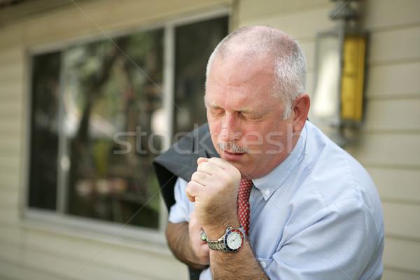 Mature Man - Flu Season Stock photo © lisafx