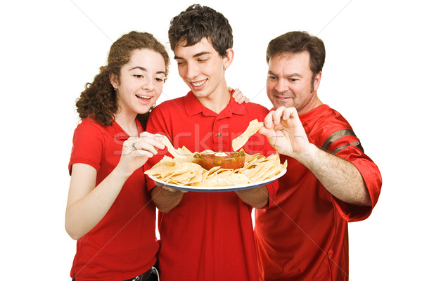 Partiers Snacking Stock photo © lisafx