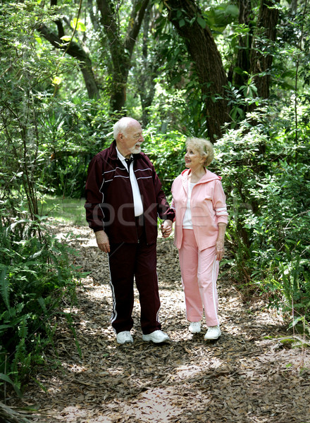 Senior Stroll in Park Stock photo © lisafx