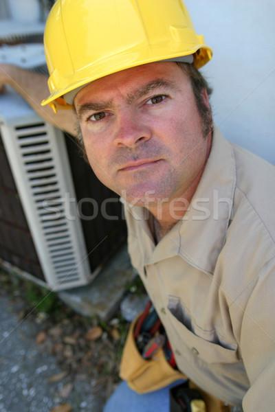 Serious Looking AC Tech Stock photo © lisafx