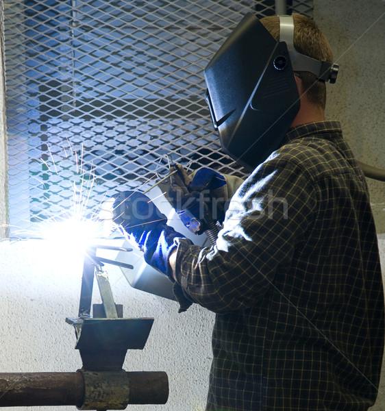 Welder at Work Stock photo © lisafx