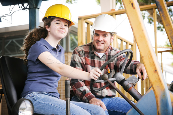 профессиональный подготовки строительство инструктор преподавания молодые Сток-фото © lisafx