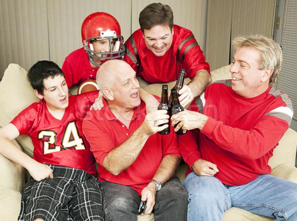 Football fans Toast succès bière Photo stock © lisafx