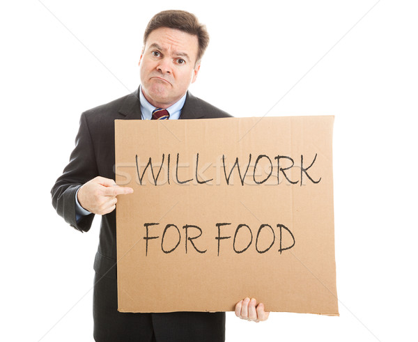 Trabalhar comida desesperado desempregado empresário Foto stock © lisafx