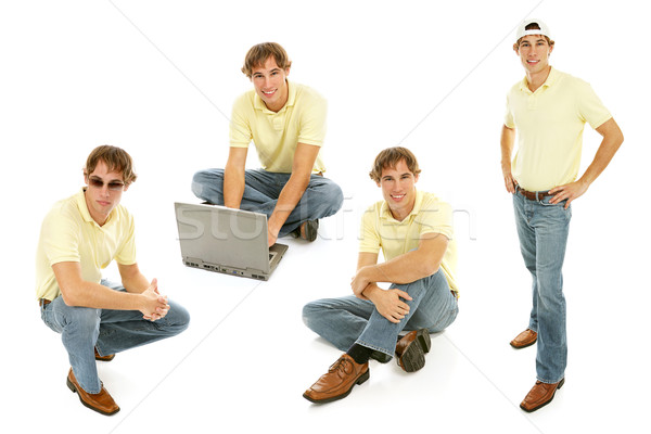 Stock Photo of Teenage Boy - Multiple Views Stock photo © lisafx