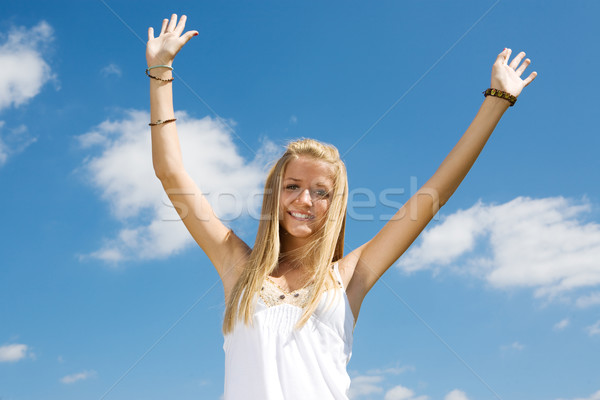 Blond Teen Enthusiasm Stock photo © lisafx