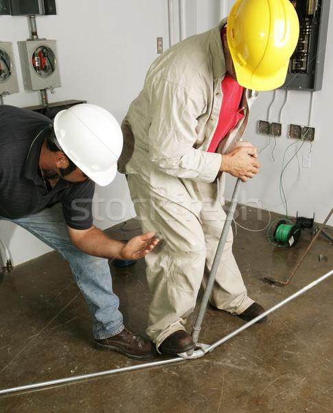 Elettricista supervisore pipe Foto d'archivio © lisafx