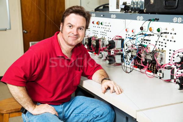 Engineer at Motor Control Center Stock photo © lisafx