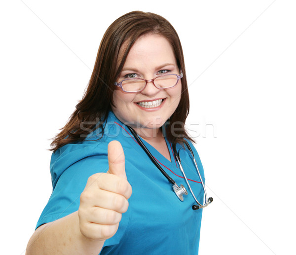 Enthusiastic Nurse - Thumbsup Stock photo © lisafx