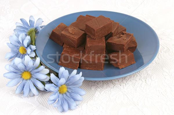 Fudge & Flowers Stock photo © lisafx