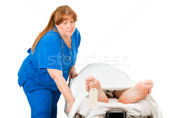 Nurse Transporting Dead Patient Stock photo © lisafx