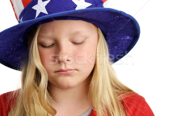 Stock photo: Stars Stripes and Sadness