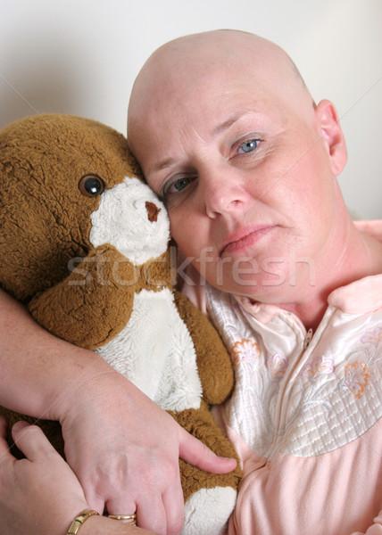 Belirsiz gelecek tıbbi hasta oyuncak ayı Stok fotoğraf © lisafx
