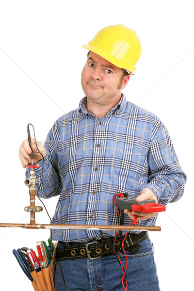 Unskilled at Plumbing Stock photo © lisafx