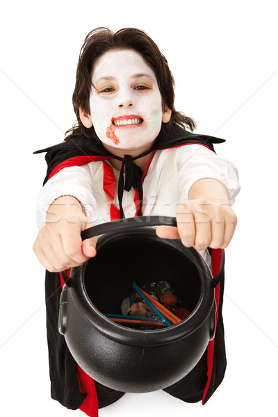 Vampire Trick or Treating on Halloween Stock photo © lisafx