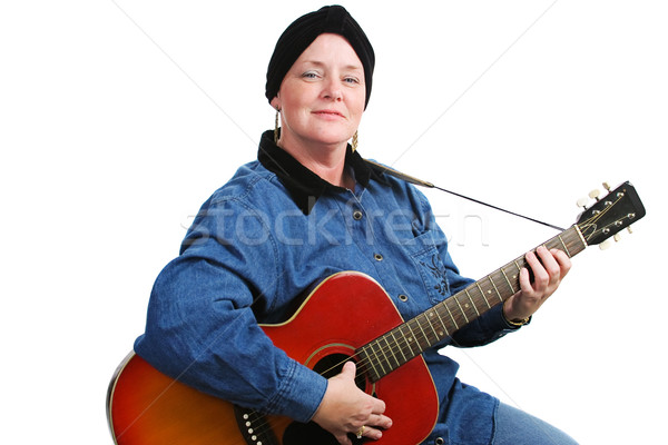 Musician and Cancer Survivor Stock photo © lisafx