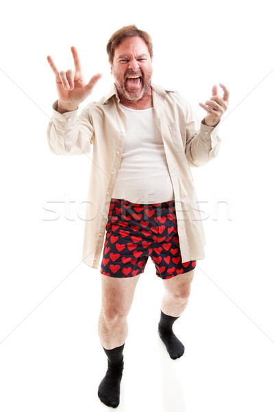 Old Guy Rocks Out Stock photo © lisafx