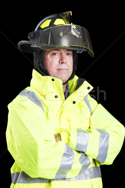 Stock photo: Firefighter - Arms Crossed