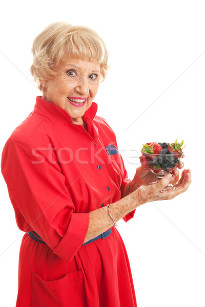 Snacking on Healthy Berries Stock photo © lisafx