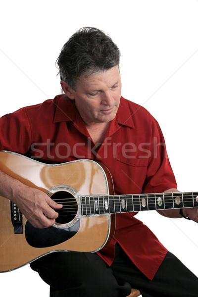 Perdido música guapo profesional músico realizar Foto stock © lisafx