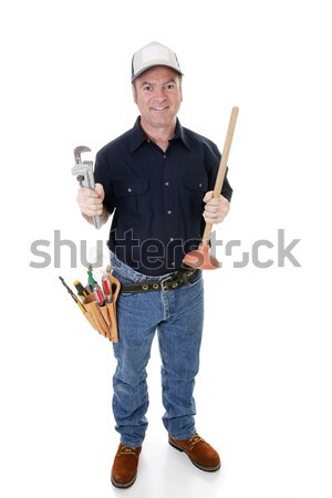 Plumber Full View Stock photo © lisafx