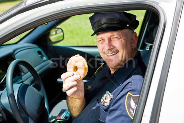 Police Officer and Doughnut Stock photo © lisafx
