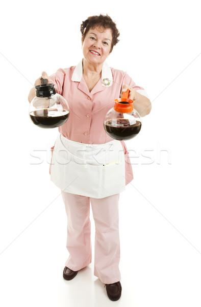 официантка регулярный кофе выбора Сток-фото © lisafx