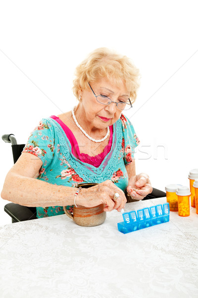 Sorting Medication for the Week Stock photo © lisafx