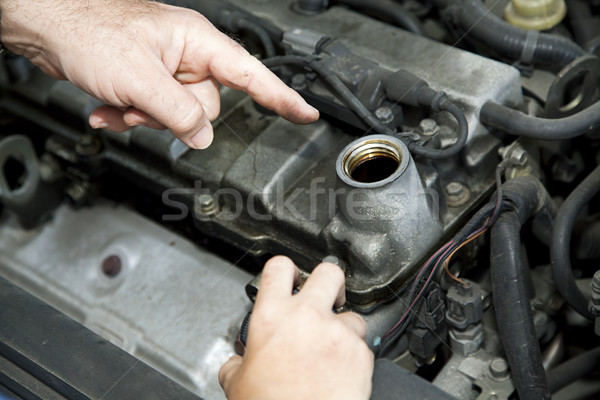 Car Repair - Changing Oil Stock photo © lisafx