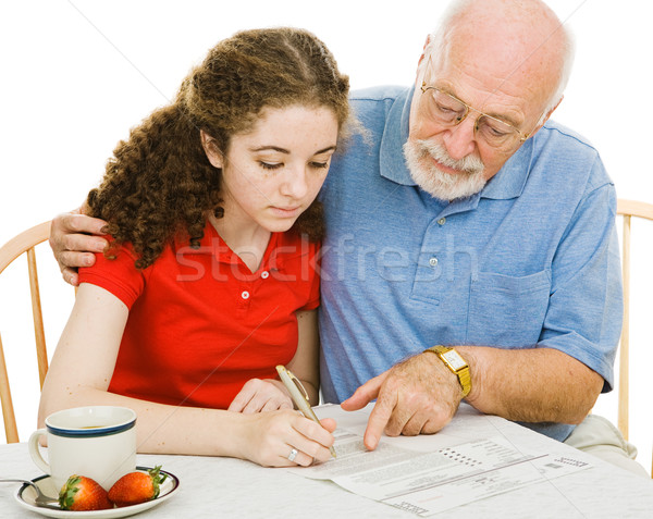 Filling Out Forms Together Stock photo © lisafx