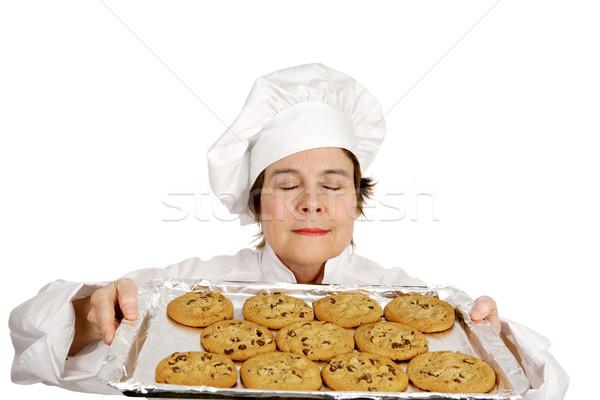 Frischen gebacken Aroma Küchenchef frisch Batch Stock foto © lisafx