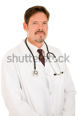 Handsome Trustworthy Doctor Stock photo © lisafx